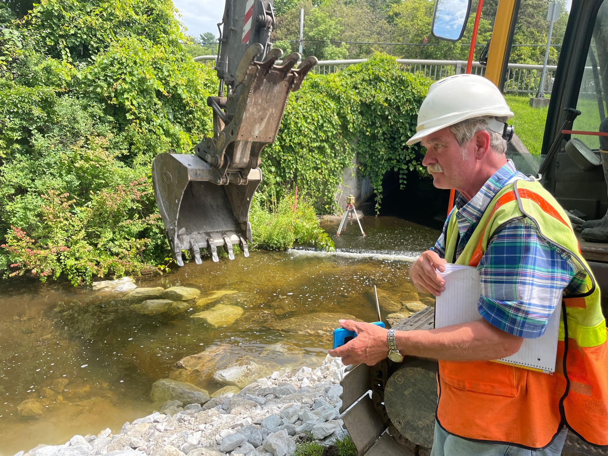 Man oversees cleanup of Dunklee Pond Dam site after dam removal